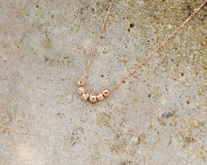 rose gold ball charm necklace gift for her