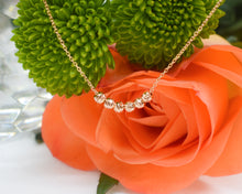 Load image into Gallery viewer, rose gold necklace gift for her with orange rose