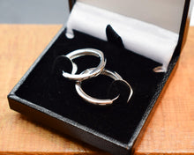 Load image into Gallery viewer, Sterling silver endless hoop earrings