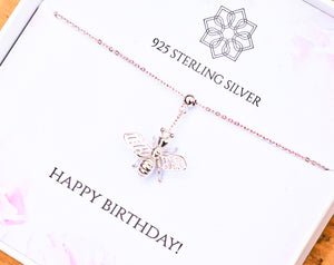 Birthday Bumble Bee Necklace