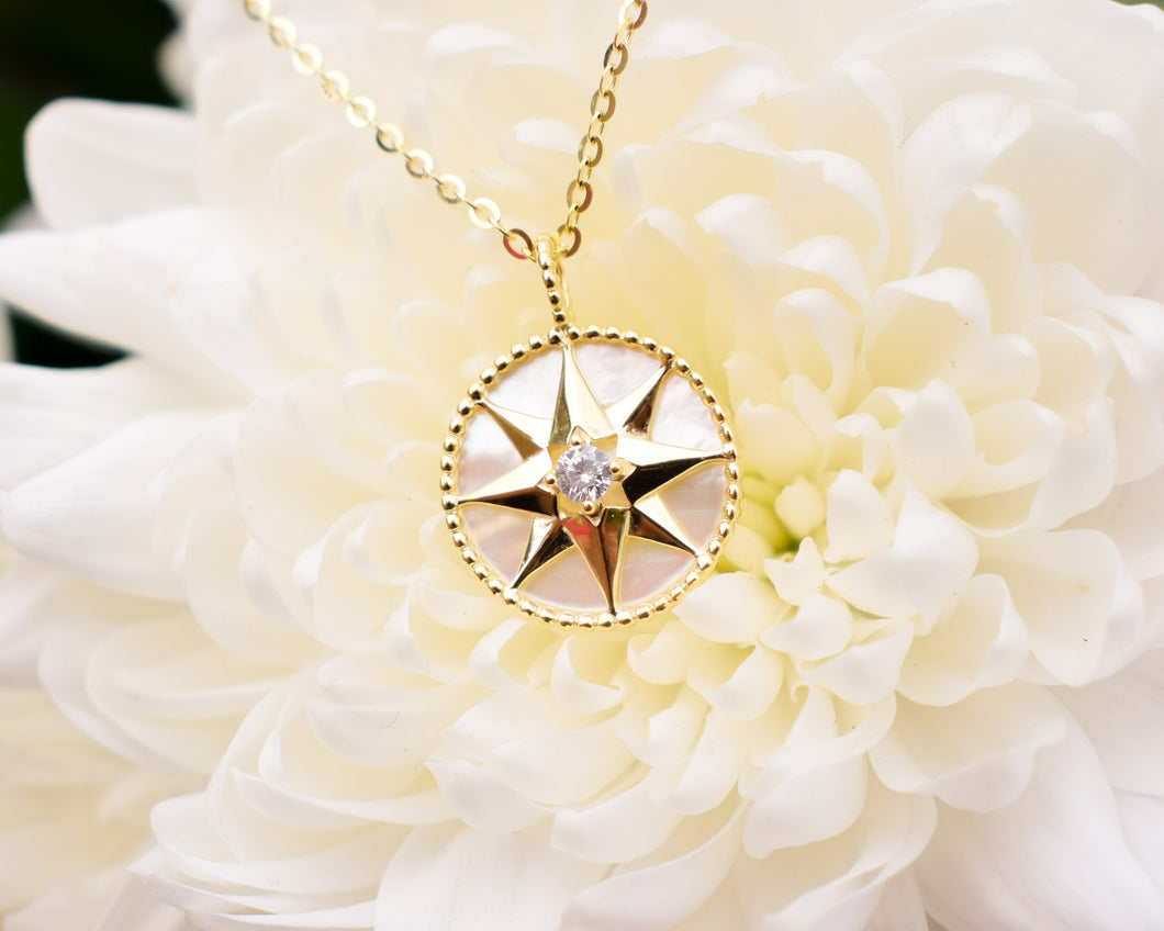 8 pointed star pendant necklace