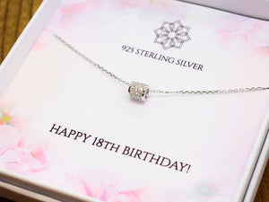 18th Birthday Crystal Charm Necklace