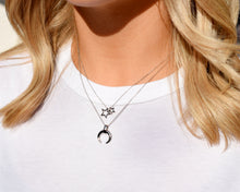 Load image into Gallery viewer, Chunky crescent moon pendant necklace | Horn pendant