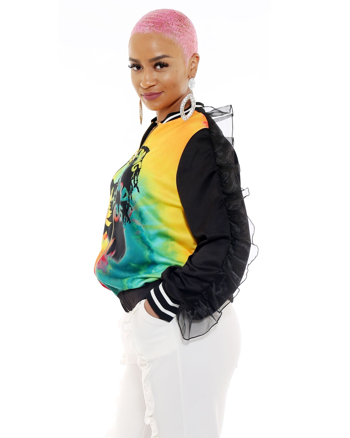 Rave Clothing Festival Rasta Jacket Cheap Jamaican Clothes For Women