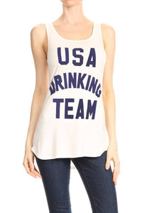 USA Drinking Team Graphic Tank Top