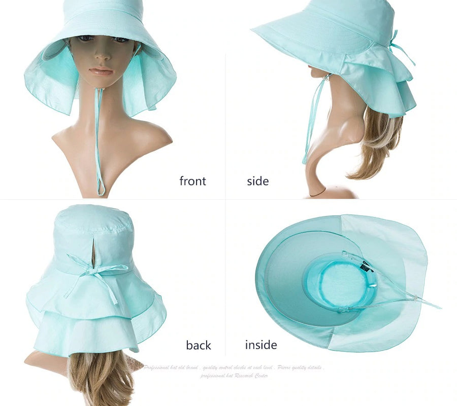 UV Protected Foldable Ponytail Sun Hat