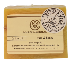 Khadi Natural Tvål Butter Soap Rose & Honey