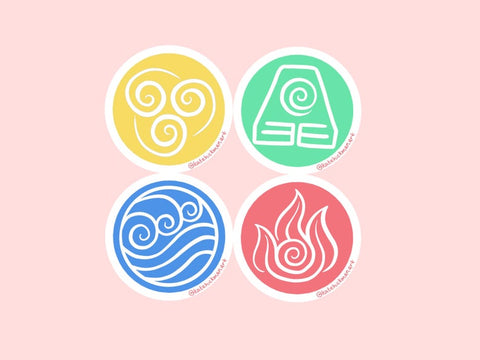 4 Elements Stickers