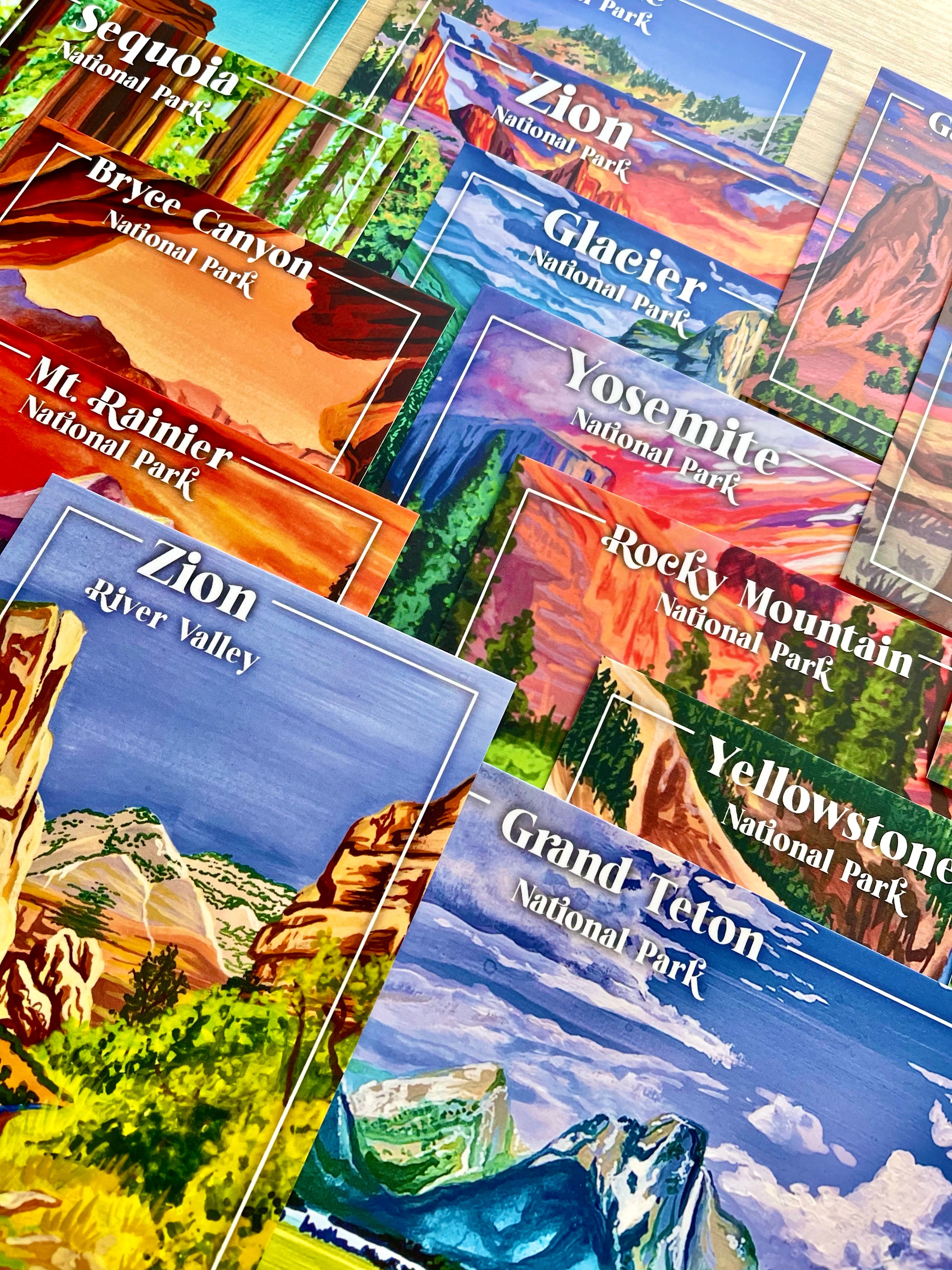 National Park Postcards - Full Set