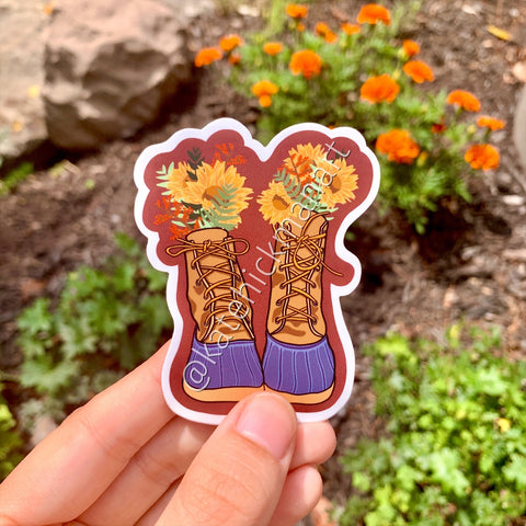 Fall Boots Sticker