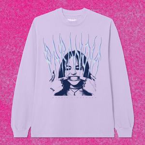 Knife Long Sleeve Orchid Tee