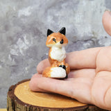 Red Fox figurine, hand sculpted from porcelain clay and ooak by Anita Reay -