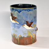 Hand sculpted ceramic kookaburra figurine, ooak bird sculpture by Anita Reay