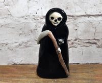 Grim Reaper ceramic one of a kind figurine sculpture figurine ornament Anita Reay AnitaReayArt halloween