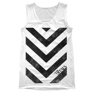 Stripes White Tank Top