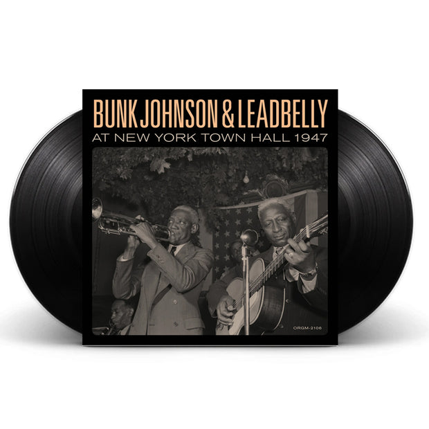 Bunk Johnson & Leadbelly At New York Town Hall 1947 2x Black Vinyl