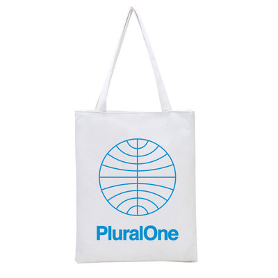Logo White Tote Bag