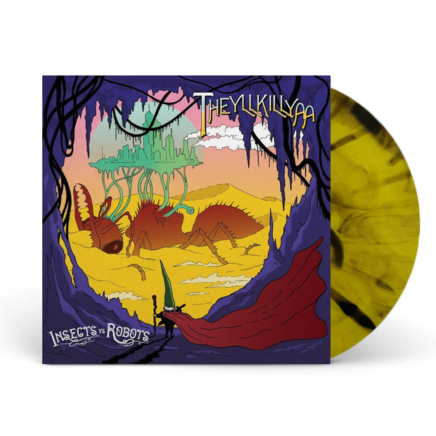 Theyllkillyaa Yellow/Black Swirl Vinyl