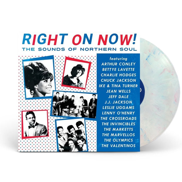 Right On Now! The Sounds Of Northern Soul White w/ Red and Blue Swirl Vinyl