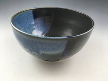 Load image into Gallery viewer, Blue and Black Serving Bowl