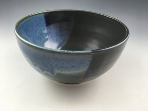 Blue and Black Serving Bowl