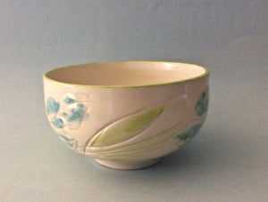 Bowl with blue flowers