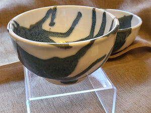 Blue and White Splash Bowls