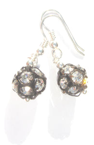 Flora Crystal Ball Earrings