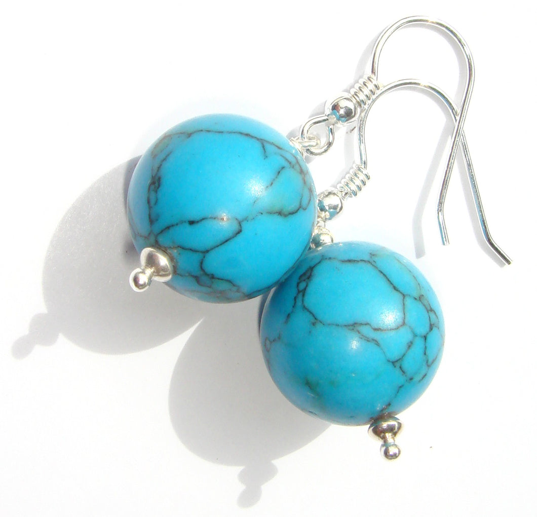Freya Turquoise Magnesite Earrings