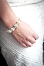 Load image into Gallery viewer, Sophie Swarovski® Crystal Pearl Bracelet with Single Crystal Ball