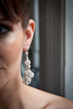 Load image into Gallery viewer, Flora Multi-Sized Crystal Ball Earrings on Sterling Silver Chain