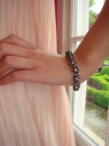 Flora Crystal Ball and Rondelle Bracelet