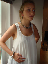 Load image into Gallery viewer, Rebecca X-Large Pearl Necklace with Single Sterling Silver Ball