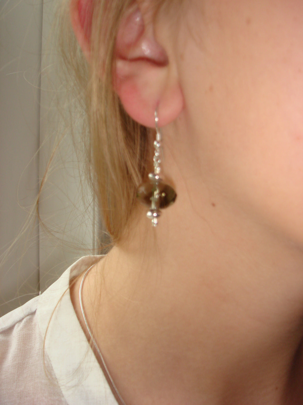 Freya Dark Champagne Faceted Crystal Earring