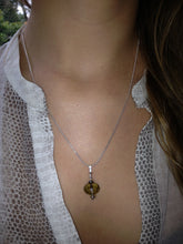 Load image into Gallery viewer, Freya Dark Champagne Faceted Crystal Drop on Sterling Silver Chain