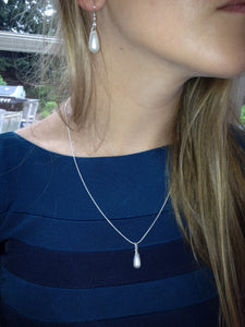 Lucy Pear Shaped Swarovski® Crystal Pearl Drop Necklace