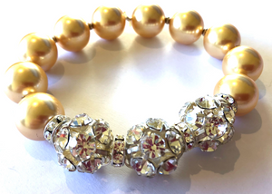 Discontinued Colour Sophie Swarovski® Crystal Pearl Bracelet with Triple Crystal Balls