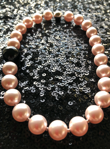 Sophie Swarovski® Crystal Pearl Necklace with Single Black Onyx Ball