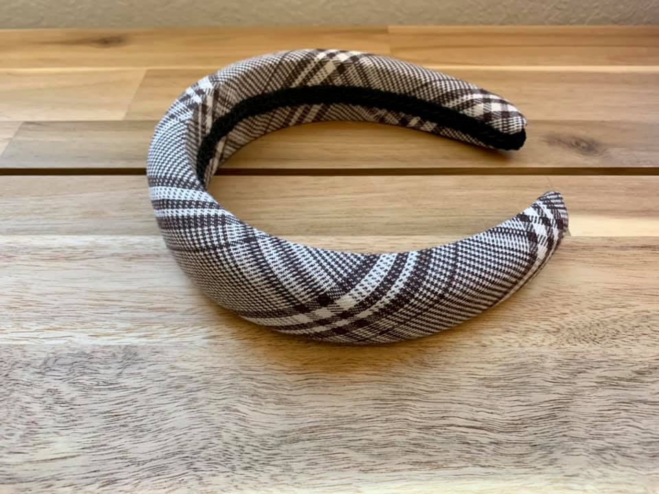 Plaid Cushion Headband