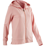 Women's Pilates and Gentle Gym Hooded Jacket 100