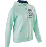 Girls' Gym Hooded Sweatshirt Warm 100