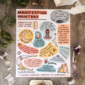 Manifesting Mantras Poster 16x20