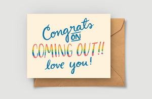 Coming Out Greeting Card - Blank Card