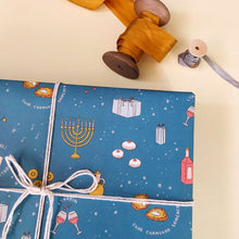 Load image into Gallery viewer, Hanukkah Party Wrapping Paper 20x29