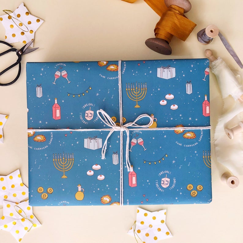 Hanukkah Party Wrapping Paper 20x29