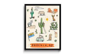 Phoenix Arizona Art Print 8x10