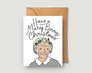Merry Berry Greeting Card - Blank Card