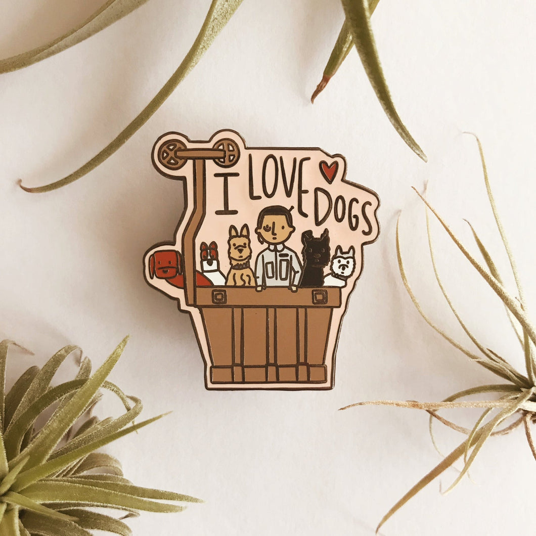 Isle of Dogs Hard Enamel Pin - Wes Anderson