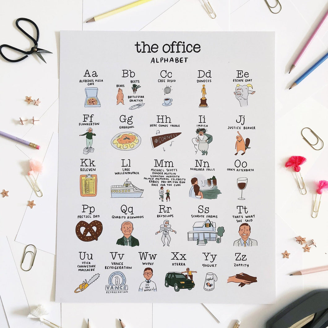 The Office Alphabet Poster 16x20