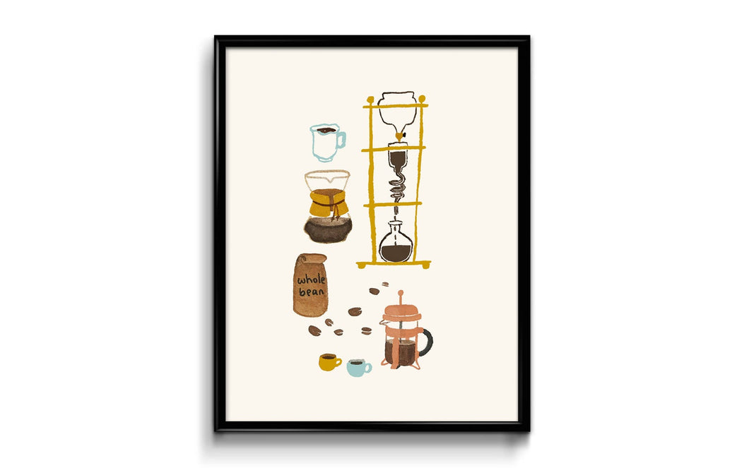 Coffee Art Print 10x8
